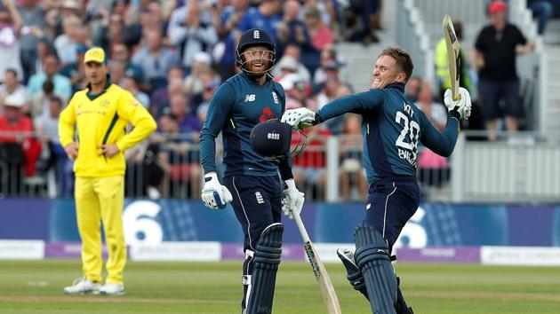 Jason Roy's century helped England chase down 310 against Australia in Durham to win by six wickets and take a 4-0 lead in the series.(Action Images via Reuters)