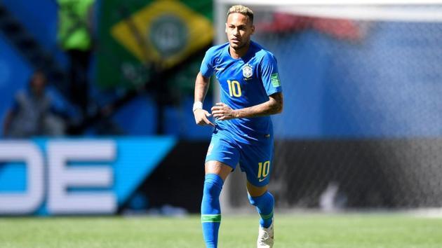 Brazil's forward Neymar runs during the FIFA World Cup 2018 Group E football match between Brazil and Costa Rica at the Saint Petersburg Stadium in Saint Petersburg on June 22, 2018.(AFP)