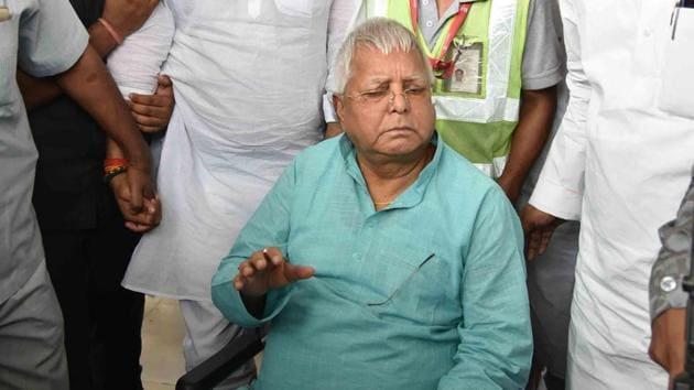 File photo of Rashtriya Janata Dal chief Lalu Prasad in Patna.(HT Photo)
