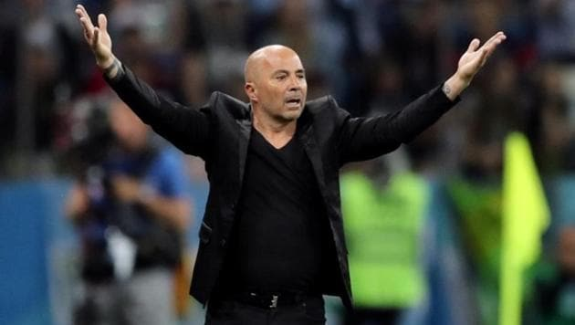 Argentina national football team coach Jorge Sampaoli was criticised from many quarters for his tactics.(REUTERS)