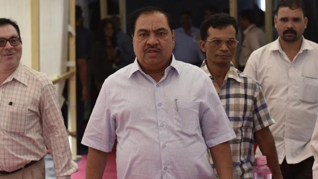 Former revenue minister Eknath Khadse(HT Photo)