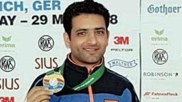 The individual category of the three-position rifle event saw Chain Singh shoot for gold with a score of 452.6.(Twitter)