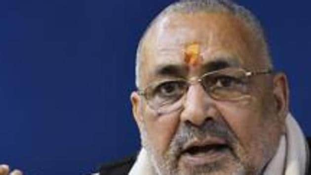 Union minister of state Giriraj Singh was speaking at the inaugural session of the 4th State Conclave of the National SC-ST Hub, in Dehradun on Saturday.(File/PTI)