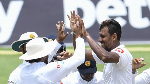 Suranga Lakmal will be Sri Lanka's 16th Test captain as Sri Lanka aim to square the three-Test series in the Pink Ball Test in Barbados.(AFP)