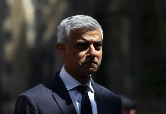 A file photo of Sadiq Khan, the Mayor of London in London.(REUTERS)