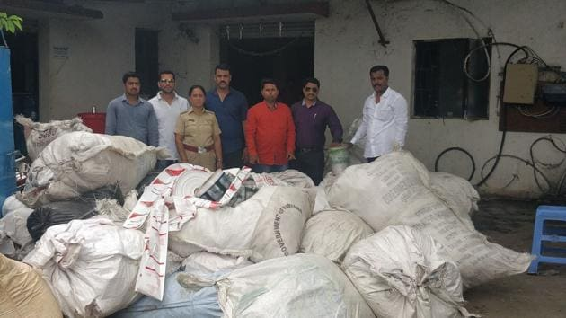 Following the state government's decision, the PMC undertook an awareness drive among the citizens to dissuade them from using plastic.(HT PHOTO)