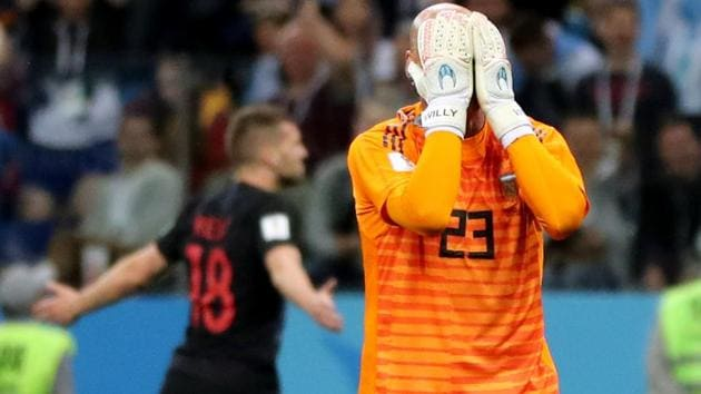 Willy Caballero, who is the first choice goalkeeper in the absence of Sergio Romero, fluffed his lines as Argentina were beaten 0-3 by Croatia in their FIFA World Cup 2018 encounter.(REUTERS)