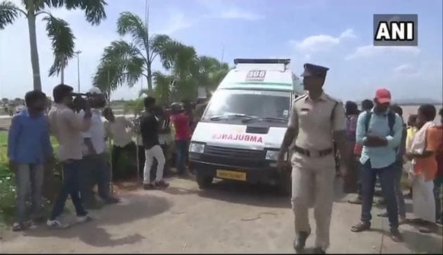 Bodies of three engineering students who drowned in river Krishna at Pavitra Sangamam in Ibrahimpatnam revovered on Sunday.(Asian News International)