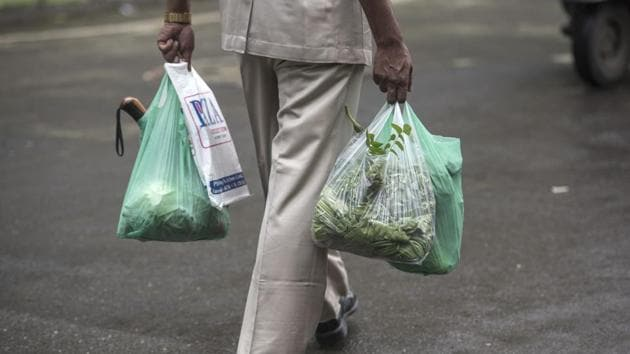 Plastic ban came into force on Sunday.(Satish Bate/HT Photo)