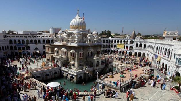 A view of Gurdwara Panja Sahib at Hasan Abdala near Rawalpindi in Pakistan.(Reuters File)
