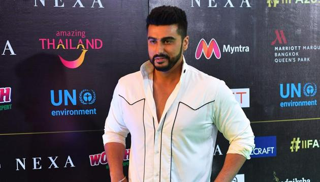 Arjun Kapoor poses for a picture at the IIFA Rocks of the 19th International Indian Film Academy (IIFA) festival at the Siam Niramit Theatre in Bangkok on June 22, 2018.(AFP)