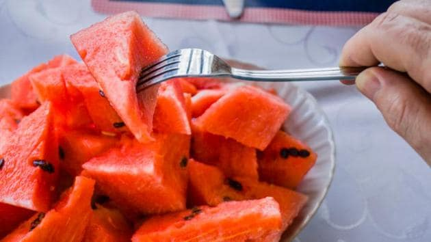 Watermelons for diabetes: Composed of 92% water and rich in a variety of nutrients such as vitamins A, B6 and C, dietitians say diabetes patients should keep an eye on the glycemic index of the fruit.(Shutterstock)