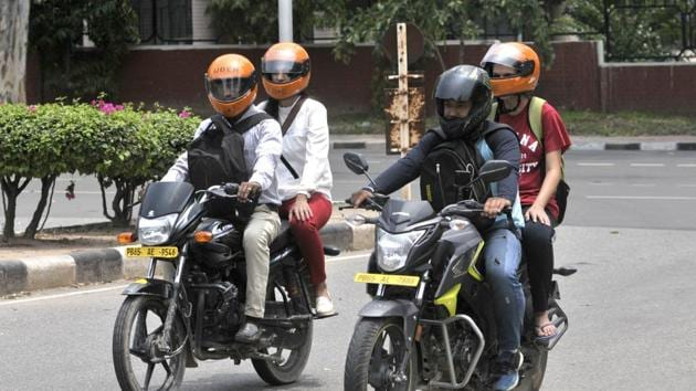 Made of Kevlar, a synthetic fibre used to make bullet-proof jackets, the inflatable helmet offers better protection than traditional ones, says one of the students.(File photo for representation)