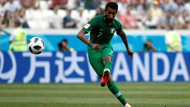 Saudi Arabia's Salman Al-Faraj scored the FIFA World Cup 2018's eighteenth penalty in their Group A game vs Egypt.(REUTERS)