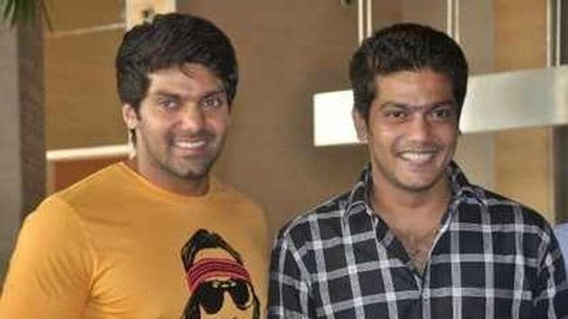 Actor Arya's brother Sathya tied the knot with his college sweetheart, Bhavana.