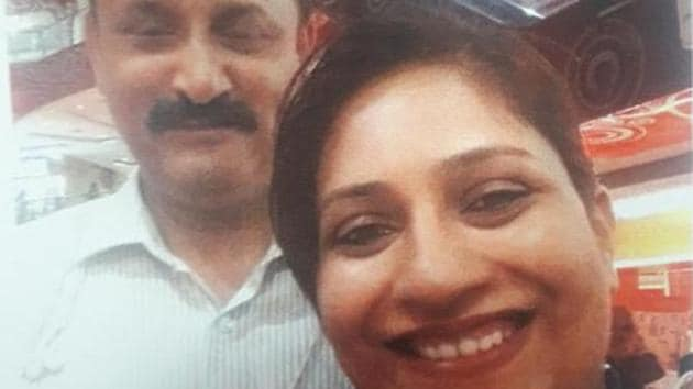 Assistant inspector Ashwini Bidre-Gore with senior inspector and accused Abhay Kurundkar.