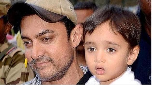 Aamir Khan's youngest son Azad is now six year old.