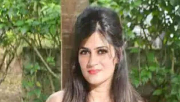 Shailza Dwivedi, wife of an Indian Army Major who was murdered and run over by a vehicle near the Delhi Cantonment metro station in west Delhi on Saturday afternoon.