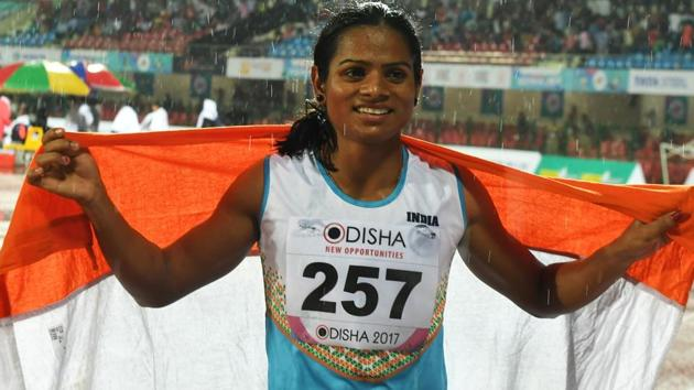 Dutee Chand qualified for the Asian Games 2018 as she made the norm in the women's 200m heats of the Inter-State Athletics Championships in Guwahati.(AFP)