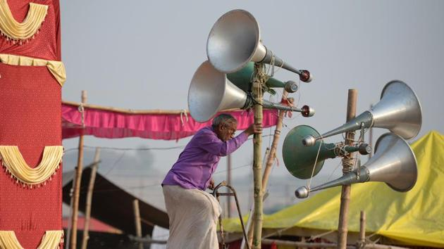 Uttarakhand High Court directed the state government to ensure that no loudspeaker or public address system is used by any person or organisation, including religious bodies, without the written permission of the relevant authorities.(AFP File Photo/For Representation)