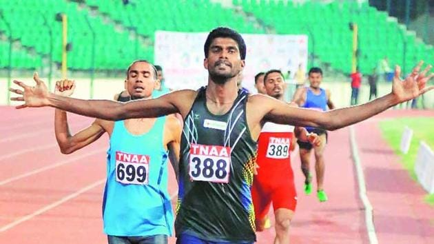 Jinson Johnson also qualified for the Asian Games en route to making the national record in 800m.(PTI)