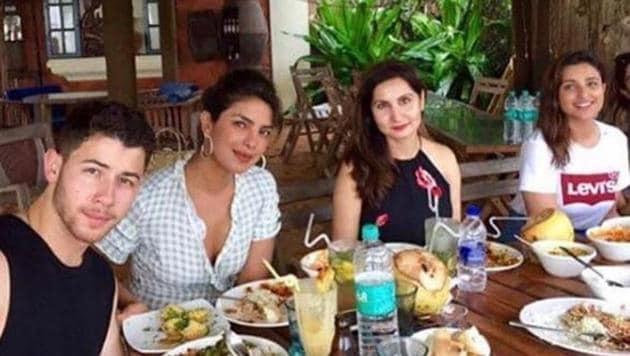 Priyanka Chopra is vacationing with rumoured boyfriend Nick Jonas in Goa.
