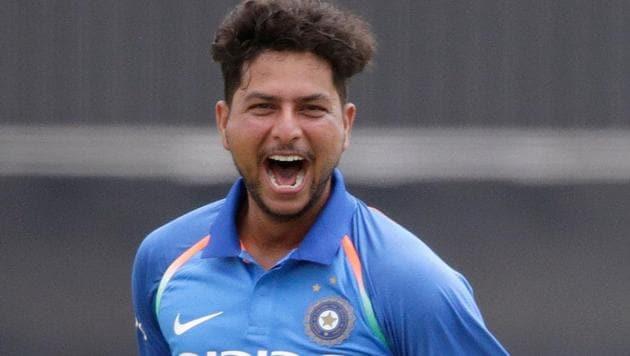 Kuldeep Yadav took 4/21 for India against Ireland. Get full cricket score of Ireland vs India, 1st T20 cricket match in Dublin, here.(AFP)
