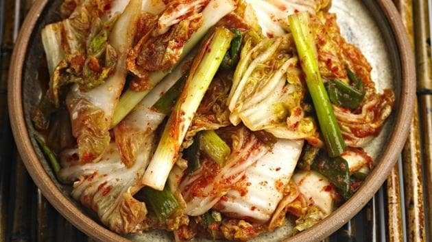 Kimchi is loaded with vitamins A, B, and C, and has healthy bacteria called lactobacilli.(Getty Images/iStockphoto)