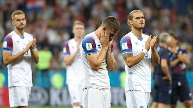 Iceland lost to Croatia in their final group game at the FIFA World Cup 2018.(REUTERS)