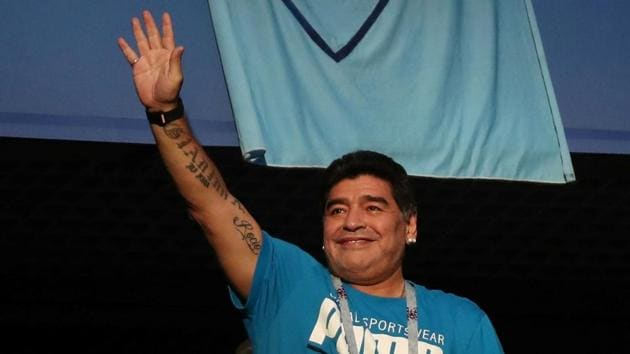Diego Maradona was treated by paramedics after Argentina's dramatic 2-1 win over Nigeria at the FIFA World Cup on Tuesday.(REUTERS)