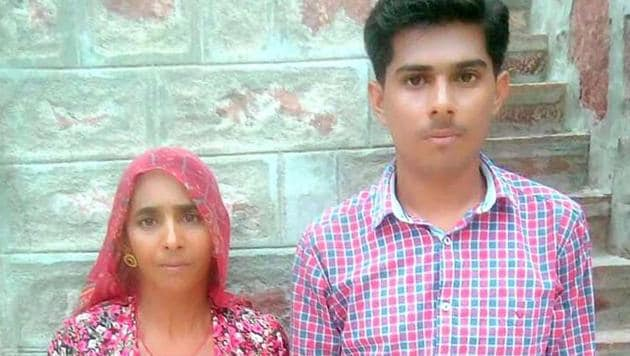 BSF jawan's widow worked as daily wage labourer to help her sons crack NEET.(A.H.Zaidi/HT PHOTO)