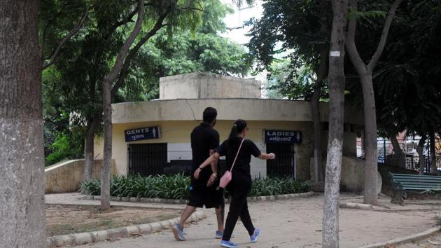 :eisure Valley Park in sector-29, Gurgaon, India.(Parveen Kumar / HT File)