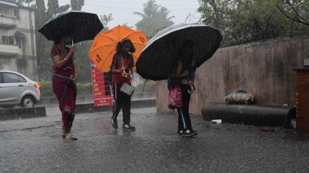 Heavy rain in pcmc in Pune, India, on Thursday, June 21, 2018.(HT Photo)