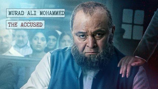 Rishi Kapoor as Murad Ali Mohammed in a poster of Mulk.(Twitter)