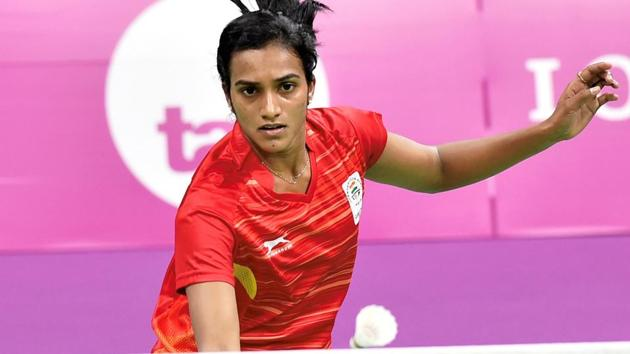 PV Sindhu entered the women's singles semi-finals with a straight games win over Carolina Marin in Malaysia Open badminton in Kuala Lumpur on Friday.(PTI)