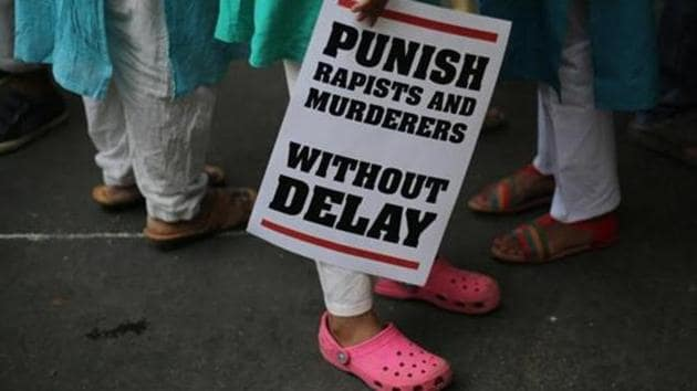 Protesters take out a rally against the rising number of rapes across the country.(AP File)