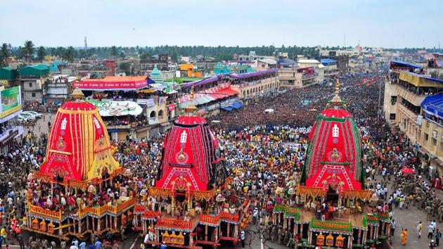 File photo of Jagannath temple in Puri, Odisha.(AFP)