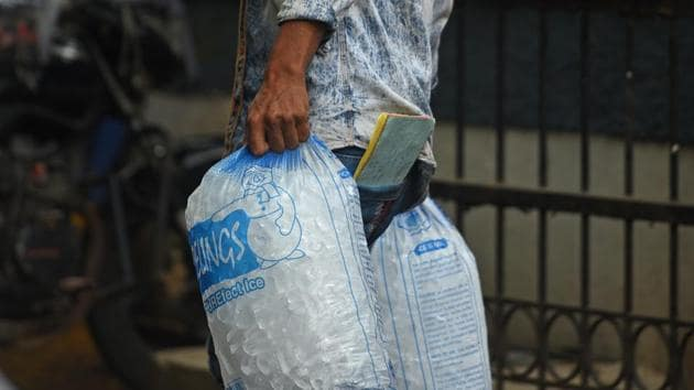 Tetra packaging and multi-layer packaging was not part of the original plastic ban announced on March 23.(Satyabrata Tripathy/HT Photo)