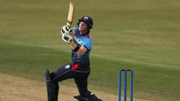 Steve Smith bats during his game at the GT20 Tournament in King City.(REUTERS)