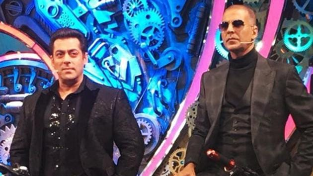 Actor Akshay Kumar promote his film Pad Man on the finale of reality show Bigg Boss.