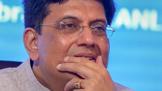 Union finance minister Piyush Goyal during a conference in New Delhi.(PTI File Photo)
