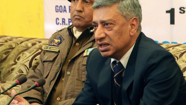 J-K DGP SP Vaid had in the past also appealed to the families of Kashmiri militants to urge their sons to leave militancy and return to mainstream.(PTI/File Photo)