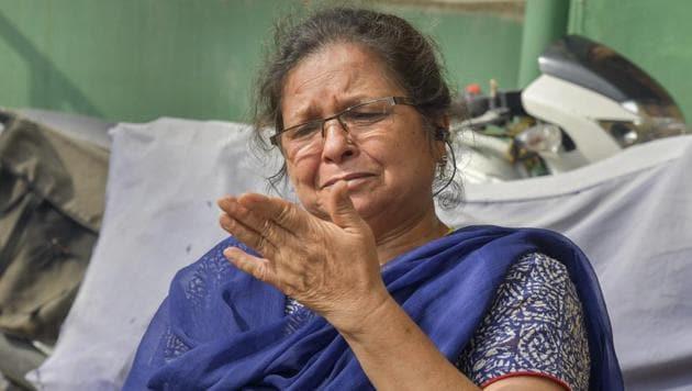 Uttara Pant Bahuguna, the school principal who was suspended for arguing with Uttarakhand CM Trivendra Singh Rawat during a Janata Darbar over transfers of teachers, in Dehradun on June 29, 2018.(PTI)