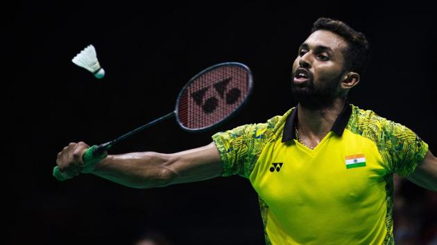 HS Prannoy Kumar stunned two-time Olympic champion Lin Dan of China in the opening round of Indonesia Open badminton in Jakarta on Tuesday.(AFP)