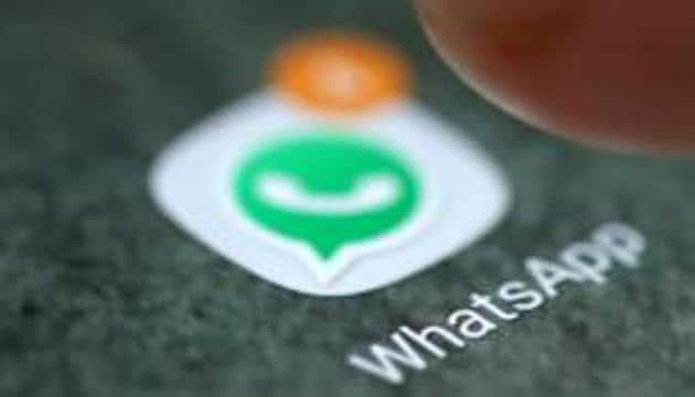 The WhatsApp app logo is seen on a smartphone in this picture illustration taken September 15, 2017.(REUTERS File Photo)