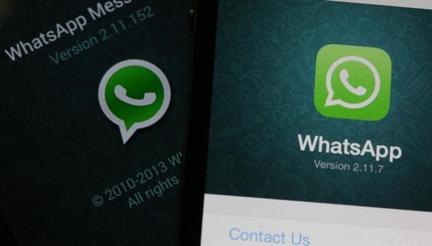 The WhatsApp Inc. mobile-messaging application WhatsApp is displayed on a Samsung Electronics Co. Galaxy S4 smartphone.(Bloomberg File Photo)