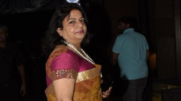 Actor Priyanka Chopra's mother Madhu Chopra seen at a restaurant in Bandra, Mumbai.(IANS)