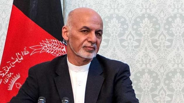 Afghan President Ashraf Ghani(HT File)