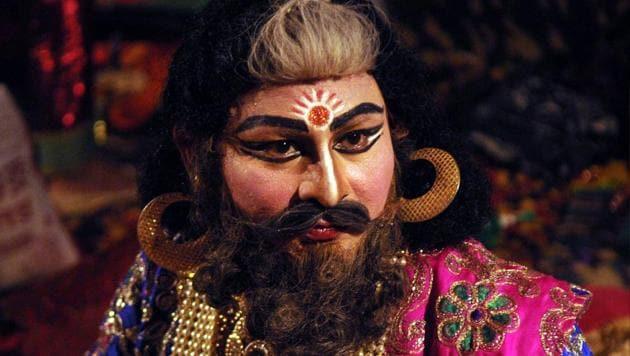 Ram Leela actors in Lucknow.(Subhankar Chakraborty/HT File Photo)