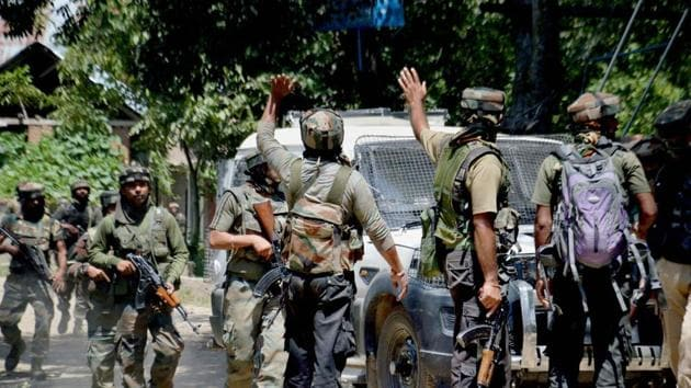 People said the army opened fire when unidentified young men pelted stones at a patrol.(PTI file photo)